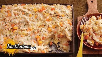 روش تهیه ریزوتو مرغ و سبزیجات
