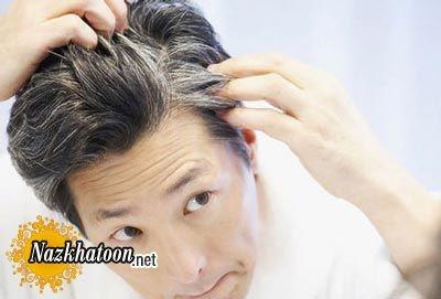 جلوگیری از سفید شدن موها با ماسک مو