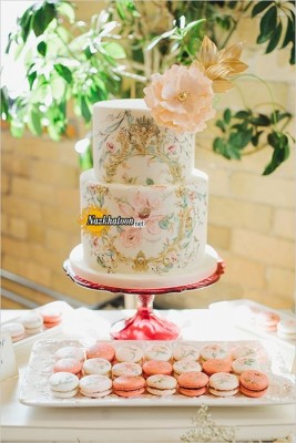 wonderful-garden-bridal-shower-ideas-with-painted-wedding-cakes