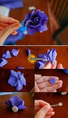 آموزش ساخت گل ارکیده پارچه ای