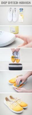 تغییر کفش ساده کتونی با رنگ