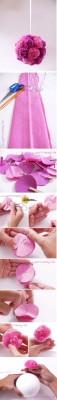 ایده شیک برای ساخت توپک گل