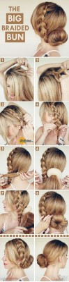 Adorable-Hairstyle-Tutorials-The-Big-Braided-Bun