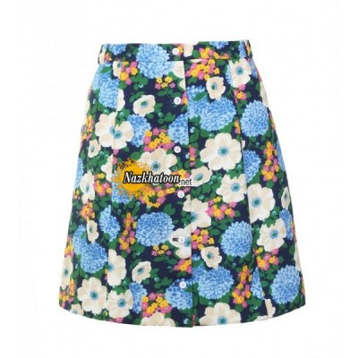 carven-multicoloured-floral-print-mini-skirt