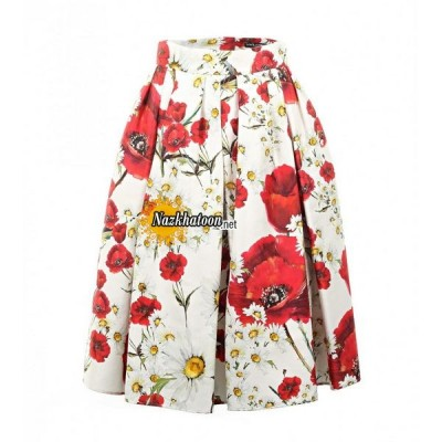 dolce-&-gabbana-multicolour-cotton-&-silk-blend-daisy-&-poppy-print-skirt