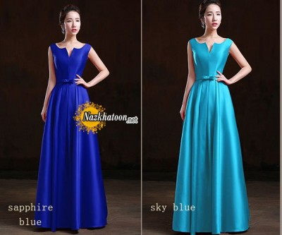 simple-v-neck-satin-dinner-dress-evening-dress-SH0016-long-A
