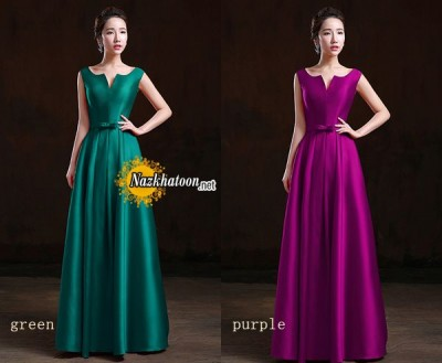simple-v-neck-satin-dinner-dress-evening-dress-SH0016-long-B