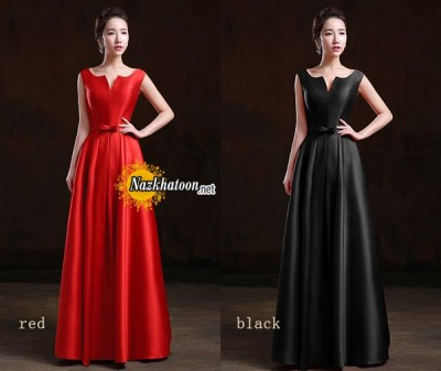 simple-v-neck-satin-dinner-dress-evening-dress-SH0016-long-D