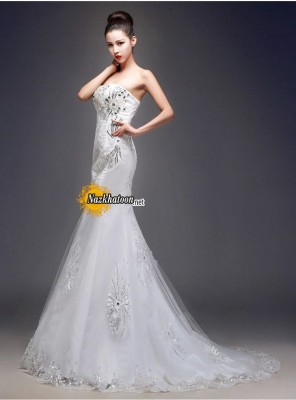 strapless-sequins-fashion-mermaid-wedding-dress-07