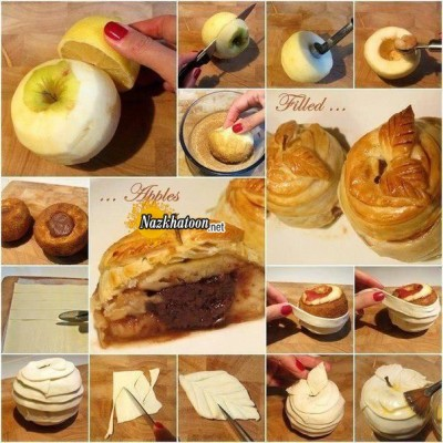 ایده جالب برای پای سیب