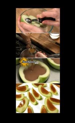 ایده جالب دسر سیب ژله ای