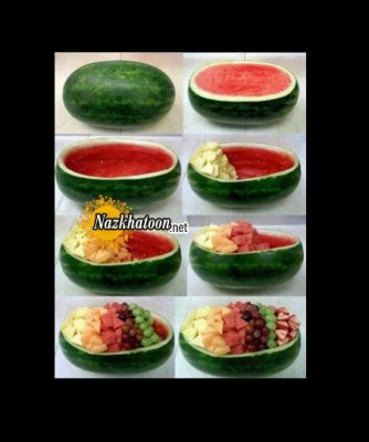 ایده جالب درست کردن سبد هندوانه ای