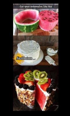 ایده جالب کیک هندوانه