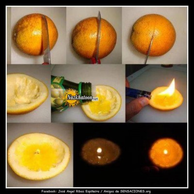درست کردن شمع با پرتقال