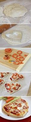 ایده خوشمزه پیتزای قلبی
