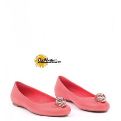 alexander-mcqueen-coral-leather-crystal-skull-ballerinas