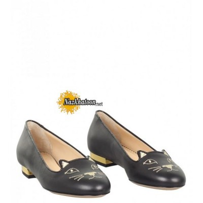charlotte-olympia-black-calf-leather-'kitty'-slippers