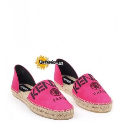 kenzo-pink-leather-&-cotton-'kenzo-paris'-espadrilles