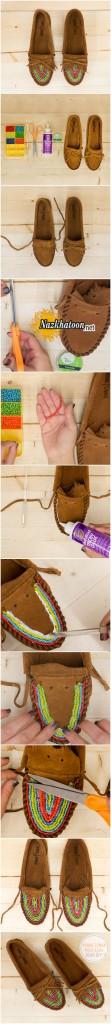 ایده جالب کفش های منجوقی