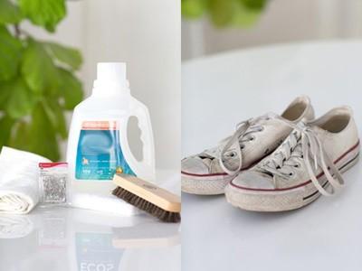آموزش شستن کفش های کتانی