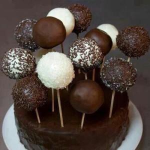 روش تهیه توپک های شکلاتی فوری