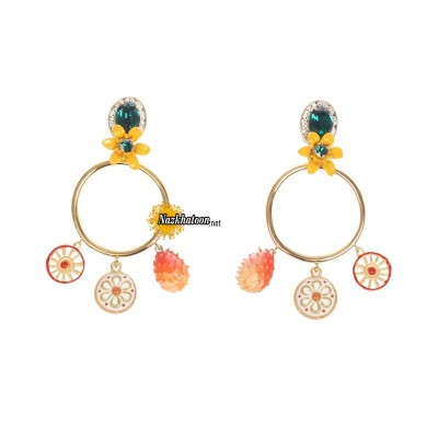 dolce-&-gabbana-gold-tone-brass-charm-pendant-hoop-clip-on-earrings