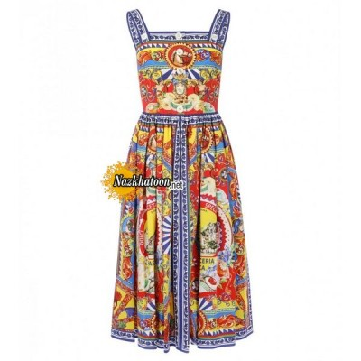 dolce-&-gabbana-multicoloured-cotton-carretto-siciliano-print-dress