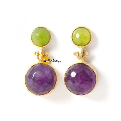 tiklari-green-purple-ekin-earrings