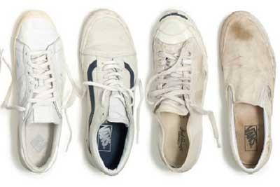 اموزش تمیز کردن کفش های کتانی سفید