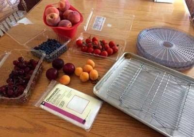 خشک کردن میوه ها در آفتاب