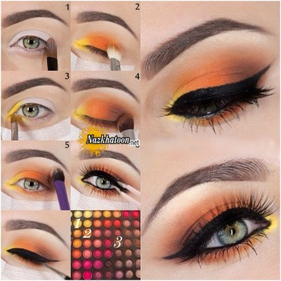 yellow-and-orange-eye-makeup-tutorial