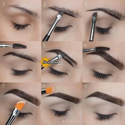 آموزش آرایش ابروهای بدون حالت