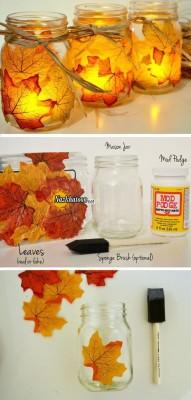 ایده جالب شمع ارایی پاییزی
