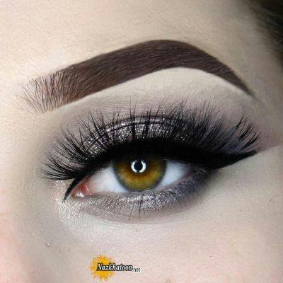 مدل آرایش چشم مدرن و اروپایی