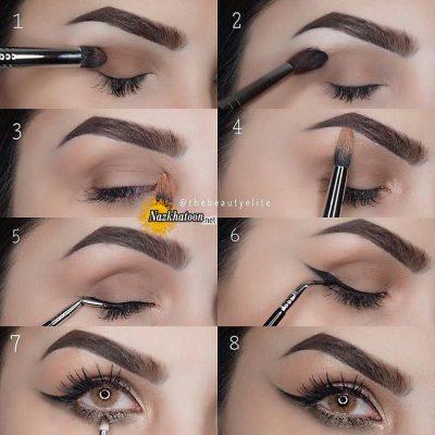 آموزش آرایش چشم و خط چشم شیک