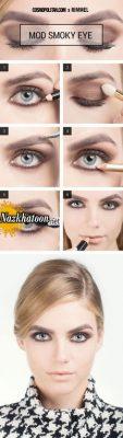 آموزش آرایش چشم اروپایی شیک
