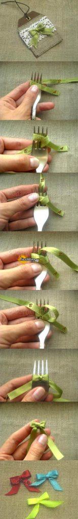 درست کردن پاپیون با چنگال