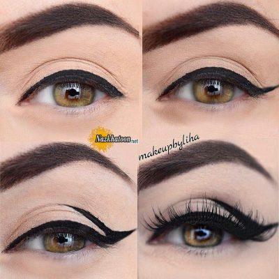 آرایش کامل چشم فقط با خط چشم
