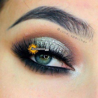 نمونه های جدید آرایش چشم ترکیبی