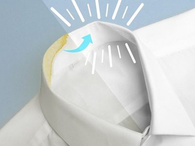 پاک کردن چرک از یقه پیراهن مردانه