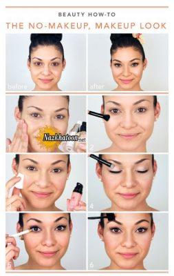 آموزش آرایش صورتی دخترونه