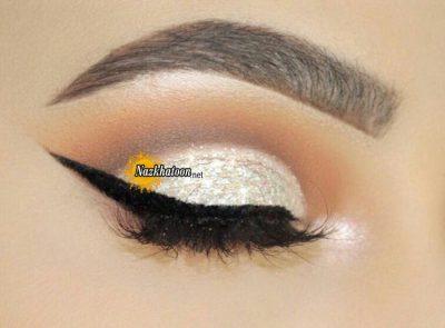 مدل آرایش چشم شیک و دخترانه