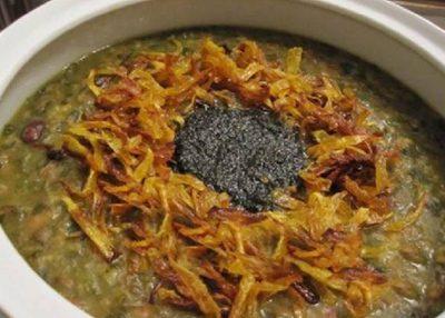 روش تهیه آش سبزی شیرازی مخصوص افطار
